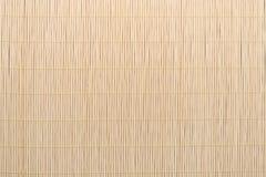 Struttura di bambù della priorità bassa della tovaglia Fotografia Stock