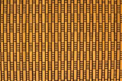 Struttura di bambù della stuoia con il filo nero fotografie stock
