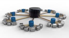 struttura di base di dati 3D Immagine Stock Libera da Diritti