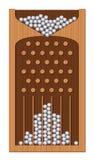 Struttura di Bean Machine Galton Board Wooden Fotografia Stock Libera da Diritti