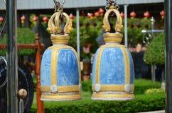 Struttura di Bell in un tempio del wat Immagine Stock
