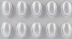 Struttura di blister di alluminio Fotografia Stock Libera da Diritti