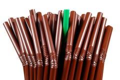 Struttura di Brown Straw Group Fotografia Stock Libera da Diritti