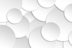 Struttura di carta astratta del fondo dell'argento di progettazione del cerchio Immagini Stock