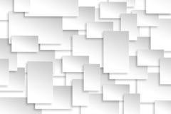 Struttura di carta astratta del fondo dell'argento di progettazione di rettangolo Fotografia Stock Libera da Diritti