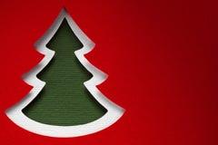Struttura di carta del fondo di Natale, tema del papercraft Fotografie Stock