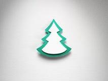 Struttura di carta del fondo di Natale, tema del papercraft Immagine Stock Libera da Diritti