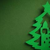 Struttura di carta del fondo di Natale, tema del papercraft Immagini Stock