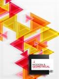 Struttura di carta del modello del triangolo di stile di arte, fondo astratto Fotografia Stock