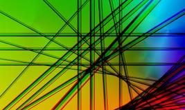 Struttura di colore della banda di Crystal Abstract con bello effetto digitale illustrazione vettoriale