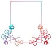 Struttura di colore di pendenza con il contorno dell'acetosella Clipart del quadro televisivo Immagini Stock