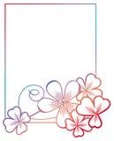 Struttura di colore di pendenza con il contorno dell'acetosella Clipart del quadro televisivo Immagini Stock Libere da Diritti