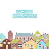 Struttura di Copyspace con le case differenti Fotografia Stock Libera da Diritti