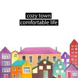 Struttura di Copyspace con le case differenti Immagine Stock Libera da Diritti