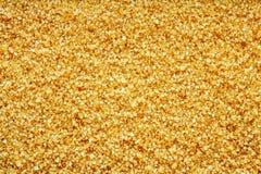 Struttura di cristallo dai minerali di colore giallo Fotografia Stock Libera da Diritti