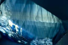 Struttura di cristallo vaga blu scuro Immagine Stock