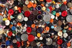 Struttura di cucito dei bottoni Immagini Stock