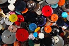 Struttura di cucito dei bottoni Fotografie Stock Libere da Diritti