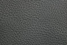 Struttura di cuoio artificiale nero Fotografia Stock