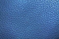 Struttura di cuoio blu-chiaro Fotografie Stock