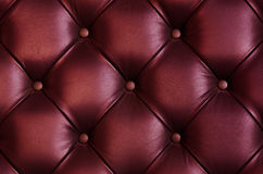 Struttura di cuoio della parte posteriore della sedia fotografia stock libera da diritti