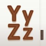Struttura di cuoio della pelle di alfabeto. Fotografie Stock