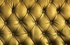 Struttura di cuoio dorata di lusso Fotografia Stock