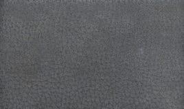 Struttura di cuoio grigia della priorità bassa Fotografia Stock