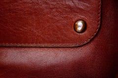Struttura di cuoio marrone di alta risoluzione immagini stock libere da diritti