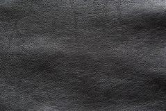 struttura di cuoio nel nero Fotografia Stock