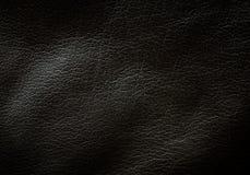 Struttura di cuoio nera Immagine Stock