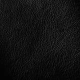 Struttura di cuoio nera del fondo, fondo di lusso Fotografie Stock Libere da Diritti