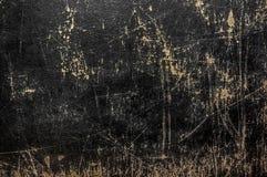 Struttura di cuoio nera di lerciume Fotografia Stock
