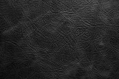 Struttura di cuoio nero nell'alta risoluzione Fotografie Stock
