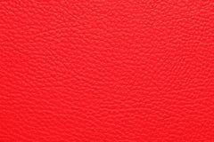 Struttura di cuoio rossa Immagine Stock