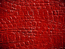 Struttura di cuoio rossa Fotografie Stock