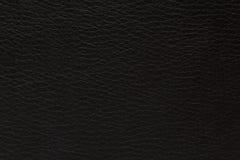 Struttura di cuoio su un fondo nero Immagine Stock Libera da Diritti