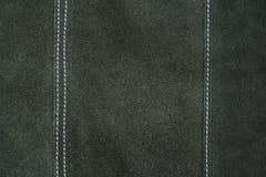 Struttura di cuoio verde scuro come priorità bassa Fotografia Stock