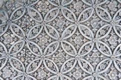 Struttura di di piastra metallica d'argento Immagine Stock