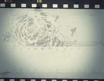 Struttura di film di lerciume con spazio per testo o l'immagine Immagini Stock