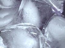 Struttura di fusione di Icecubes del ghiaccio Immagine Stock