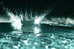 Struttura di ghiaccio, ghiaccio naturale congelato dell'acqua Fotografia Stock