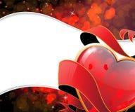 Struttura di giorno di biglietti di S. Valentino Fotografie Stock