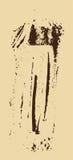 Struttura di Grunge Spazzola di Brown su beige Modello di vettore Fotografie Stock