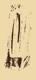 Struttura di Grunge Spazzola di Brown su beige Modello di vettore Cenni storici urbani Immagini Stock