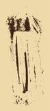 Struttura di Grunge Spazzola di Brown su beige Modello di vettore Cenni storici urbani Fotografia Stock