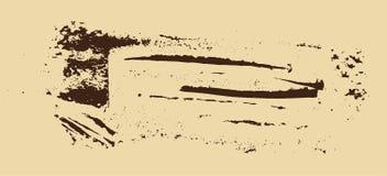 Struttura di Grunge Spazzola di Brown su beige Modello di vettore Cenni storici urbani Fotografia Stock Libera da Diritti