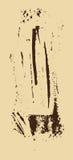 Struttura di Grunge Spazzola di Brown su beige Modello di vettore Cenni storici urbani Fotografie Stock Libere da Diritti