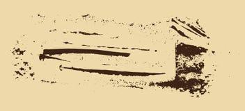 Struttura di Grunge Spazzola di Brown su beige Modello di vettore Cenni storici urbani Immagini Stock Libere da Diritti