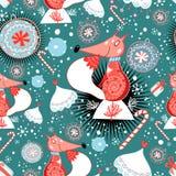 Struttura di inverno con le volpi illustrazione di stock